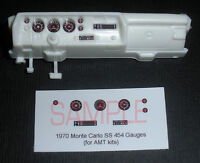 1970 MONTE CARLO SS 454 GAUGE FACES for 1/25 scale AMT KITS