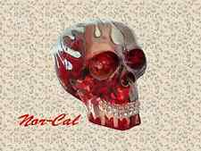 DIY Clear Red Flame Skull Head Shift Knob Rider Shifter Lever Handle Car Auto