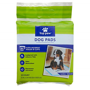 """Top Paw Adhesive Training Dog Pet Pee Pads 23""""X24"""" 10-Count"""