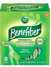 Benefiber Fiber Supplement On the Go! Stick Packs ~ 48 Count ~  Exp 12/22