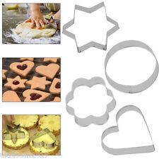 12pcs IN ACCIAIO INOX Biscotto Cookie CAKE PASTICCERIA Fondant mold Stampo Cutter