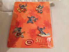 Disney Catalog Stitch Elvis Surf Alien 5 Pin Card Set brand new in box 95201