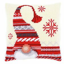 Christmas Elf ~ Chunky Cross Stitch Cushion Front Kit by Vervaco 40x40cm