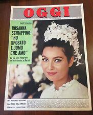 R14  RIVISTA OGGI  N.41 ANNO 1963 -ROSANNA SCHIAFFINO HO SPOSATO L'UOMO CHE AMO