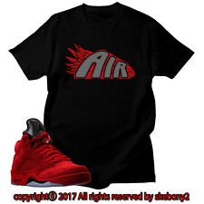 64e56af8fbcf6a NEW T SHIRT Air Jordan 5 Red Suede matching ECO PRINT JD 5-1-