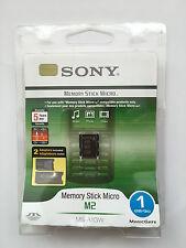 Sony MEMORY STICK MICRO M2 1GB Inc M2 DUO Dimensioni Card Adattatore MSAC-MMS