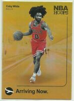 2019-20 Panini NBA Hoops Arriving Now Gold Holo SP #16 Coby White Chicago Bulls
