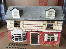 Vintage Tin Doll House Litho Two Story