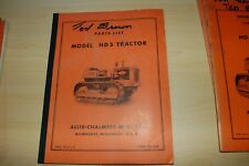 ALLIS-CHALMERS HD5 Tractor Dozer Crawler Parts Manual book catalog list spare AC