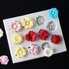 Flower Silicone Fondant Chocolate Cake Decorating SugarCraft Mould Baking Tool