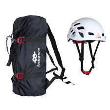 Folding Lightweight Rock Climbing Caving Rope Bag Backpack & Safety Helmet