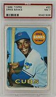 1969 Topps #20 Ernie Banks PSA 7