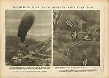 Photo Balloon Ballon Observation Battle of the Piave River Italy /Tanks 1918 WWI