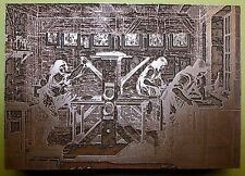 """LARGE CAXTON PRINTING PRESS"" PRINTING BLOCK."
