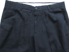 New Mens Marks & Spencer Blue Linen Trousers Waist 36 Leg 30 LABEL FAULT