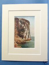 BASS ROCK FIRTH OF FORTH SCOTLAND 1912 MOUNTED PRINT