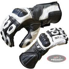 PROANTI Motorradhandschuhe Pro Racing Motorrad Leder Handschuhe Gr: M-XXL