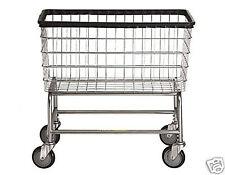 Large Capacity Laundry Cart On Wheels w/ Basket  4.5 BU