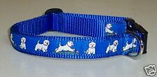 WESTIE COLLAR BLUE PLAYFUL  FREE SHIP USA