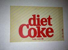 "Diet Coke Vending Machine Insert, Diagonal Stripes, 3.25"" x 2.25"""