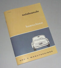 Manuale uso e manutenzione Autobianchi Bianchina anni 1965 - 1970