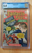 FANTASTIC FOUR #22 1964 *CGC 5.0 OFF-WHITE TO WHITE PAGES* 2ND APP MOLE MAN