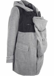 Tolle Tragejacke Mantel mit Babyeinsatz Gr.44 Umstandsjacke