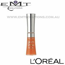 2 x L'Oreal Glam Shine Lip Gloss - Aqua Mandarin 187 - Free Post - Brand New