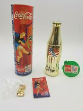 VINTAGE 1994 WORLD CUP SOCCER COCA COLA GOLD COKE BOTTLE & PIN