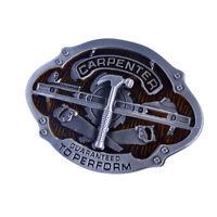 Carpenter Vintage Men Western Cowboy Leather Belt Buckle Replacement Alloy Metal