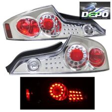 LED Tail Lights CHROME Housing by DEPO Fits 03-05 Infiniti G35 G-35 Coupe 2D