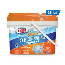 Hth Super 3 Inch Chlorine Tablets for Pool, 25 lbs