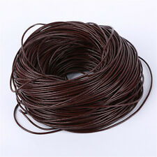 Round Genuine Leather Cord - 1mm 2mm 3mm - Thread Cords - Beige Black Brown