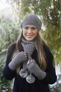 New Pricing - NZ Made Possum Fur Merino Wool Knitwear Plain Fingerless Mittens