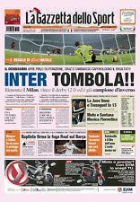GAZZETTA DELLO SPORT 24 DICEMBRE 2007 INTER VINCE DERBY