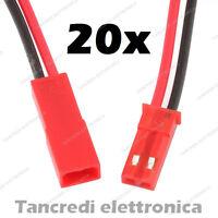 KIT 20x 10+10 CONNETTORE CAVO STRISCIA BOBINA SPINOTTO 2 PIN LED STRISCE