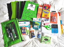 School Supplies Lot Grades 9-12 Lime Green/Black color personal hygiene products