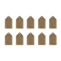 10pcs Antique Bronze Metal Tag Brass Blank Stamping Tag Pendants Jewelry Charms