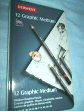 12 Medium Graphite Pencils by Derwent New!