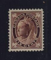 Canada Sc #71 (1897) 6c Queen Victoria Maple Leaf VF H