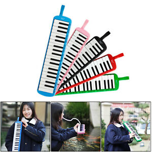 IRIN 37 Key Melodica Instrument with Blowpipe Mouthpiece Air Piano Keyboard Bag