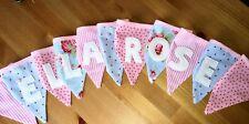 Personalised Baby Girl Handmade Bunting (per letter/flag)