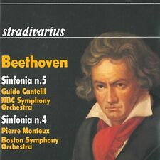 Symphonies 5 & 4 - Beethoven / Bso / Cantelli / Monteux / Nbc S (1900, CD NIEUW)