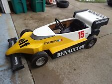 Grand Prix Renault Elf Fiberglass racing Adult Go Kart Cart 1988 pedal car race
