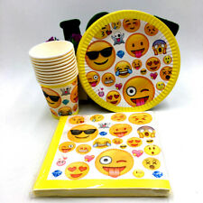 EMOJI PLATES CUPS NAPKINS PARTY PACK BIRTHDAY PARTY 10 GUESTS 40 PIECES SUPPLIES