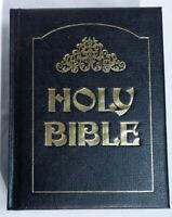 Large King James Version Holy Bible Omega Publishing 1971 Black Hardcover w/Box