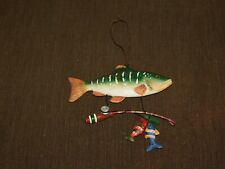 "5 1/2"" Long Fish Fishing Pole Wall Hang"