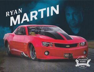 2019 Ryan Martin Stainless Works Chevy Camaro PRI Show Street Outlaws Hero Card