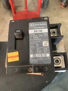 CUTLER HAMMER EATON BW 10k BW2150 2 POLE 200 AMP 120/240V CIRCUIT BREAKER