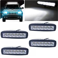 "4pack  6"" 18W LED Work Light Bar Lamp Spotlight  Offroad Car Truck Boat ATV SUV"